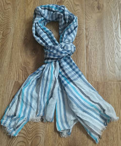 Wholesale hanging hooks for bags: Strip Check Cotton Scarf,Men Children Scarf