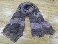 2017 New Dip Dye Special Yarn Knitted Scarf with Shimmer