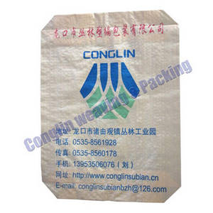 Wholesale square bottom valve bag: China PP Plastic Woven Cement Bag/Sack Export