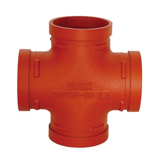 UL FM CE Approval Ductile Iron Grooved Pipe Fittings Elbow/Equal/Cross/Reducing Cross