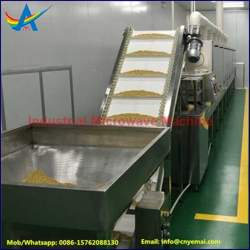 Sell tunnel microwave bean products roasting/drying/sterilizing machine