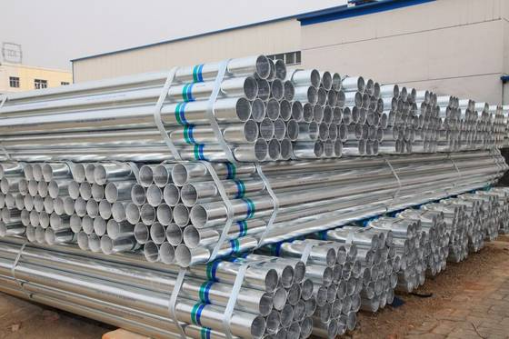 Sell Hot dipped Gavanised zinc coating carbon steel seamless pipes 210g-550G.M2