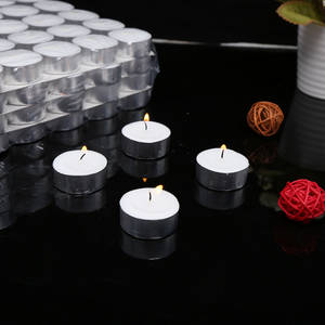 Wholesale t-light holder: Decorative White Wax Candle