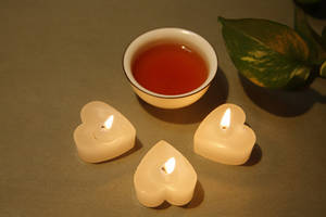 Mini Paraffin Candles Tea Light in Heart Shape
