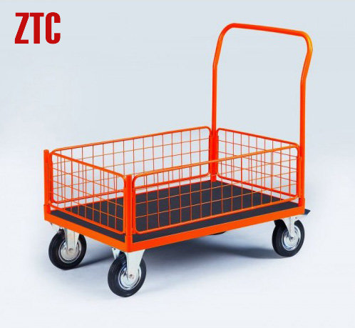 mesh sides platform wire truckheavy duty industry flat wire utility cart with wheels rca