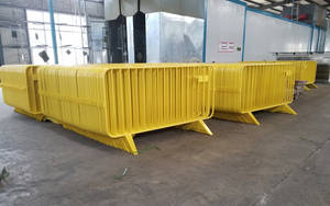 Wholesale Traffic Barrier: Economy Steel Barricade White Powder Coated Crowd Barrier
