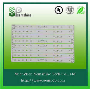 Wholesale led pcb board: White Solder Mask and 1.6mm Board Thickness Single Sided Aluminum Base LED PCB
