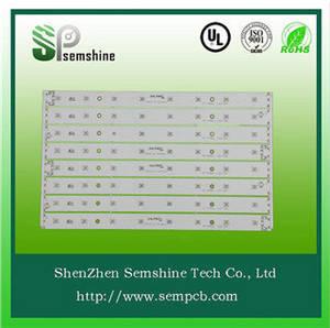 Wholesale aluminum base led pcb: White Solder Mask and 1.6mm Board Thickness Single Sided Aluminum Base LED PCB