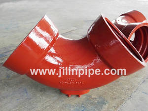 Wholesale socket: Ductile Iron Pipe Fittings,  Double Socket Bend with Outlet.