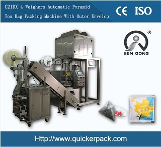 Pyramid India Assam Tea Bag Packing Machine with Outer Envelope
