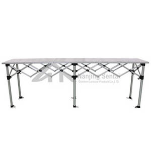 Wholesale folding table: Folding Table with Aluminum Top