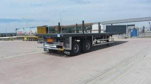 Wholesale flat grill: 2 Axle Flat Semi Trailer