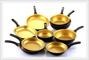 Wholesale ceramics: KOPAN Gold Ceramic Frypan/WOK