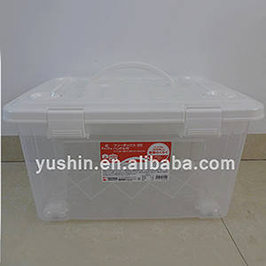 Wholesale removable handle: Stackable Removable Plastic Storage Box for Clothes with Wheels/Handle/Lid