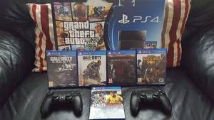 Wholesale video game players: Buy 2 Get 1 Free Onys Playstations 4 Ps4s Video Game Player Console Plus 15 Free Games,2 Controlle