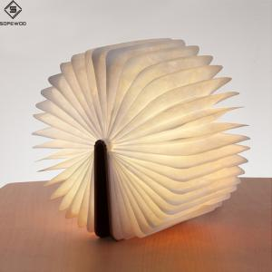 Wholesale rechargeable lamp: LED Book Lamp Folding Book Light Lighting USB Rechargeable Book Shape Light