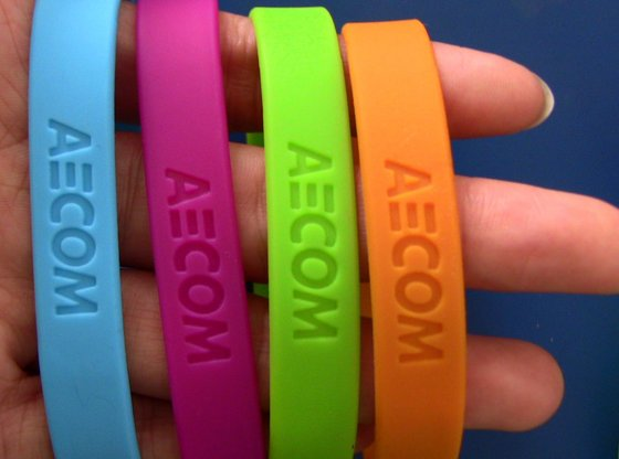 Silicone Wristband with Debossed Logo