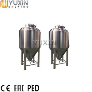 Wholesale stainless steel beer tanks: Beer Storage Tanks  300L 500L 1000L Mini Stainless Steel Cooling Jacket Beer Fermentation Tank