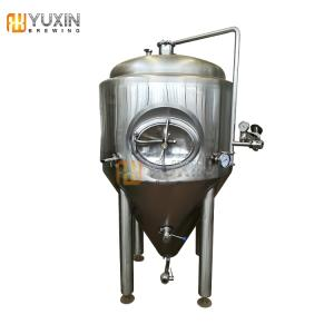 Wholesale sanitary stainless steel fittings: Stainless Steel Fermentation Conical Tank 2000L 20HL 20BBL Cooling Jacket Beer Fermenter