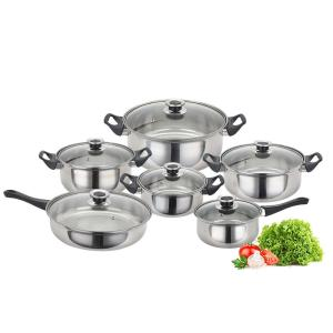 Wholesale stainless steel cookware: 12 PCS Stainless Steel Cookware Set Cooking Pot