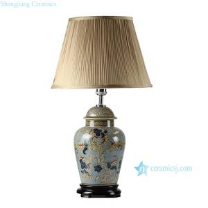 Wholesale restaurant ware: DS44-RYPU New Design Floral Pattern Vintage Ginger Jar Lamps