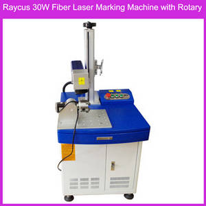 Wholesale copper fiber: Stainless Steel Copper Genuine EZcad Raycus 30W Fiber Laser Marking Machine with Rotary