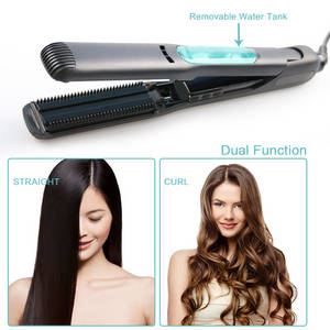 Wholesale Hair Straightener: Professional Ceramic Steam Hair Straightener with Flat Iron for Hair Straightening and Comb
