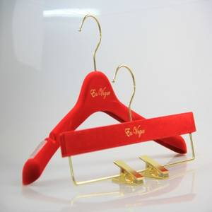 Wholesale wedding dress: red Wedding Dress Plastic  Hanger Flocked with Velvet