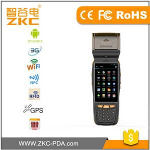 Wholesale screen printer: 4 inch Touch Screen 4g Nfc Rfid Scanner,Printer PDA for Logistics