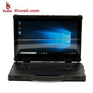 Wholesale laptop computers: Rugged Laptop Tablet PC Windows 7 10 Waterproof Desktop Computer Intel I5 8250U 14 8G RAM 128GB