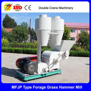 Wholesale cattle feed mill: China Double Crane Cattle Straw Crushing Machine Grass Feed Hammer Mill