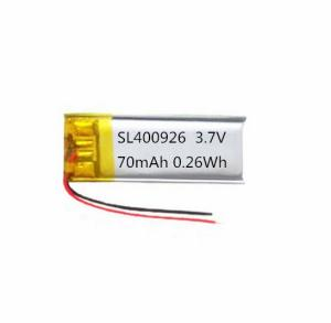 Wholesale solar applications products: KC Approved 400926 3.7v 70mAh Lithium Polymer Battery
