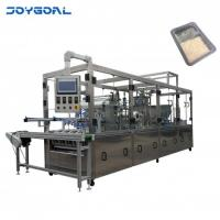 BHJ-4 Automatic Cup Tray Filling and Sealing Machine for Filling Granules and Liquid with Hoist
