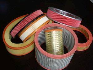 Wholesale filter metal end cap: PU Round Air Filter with Metal Cap