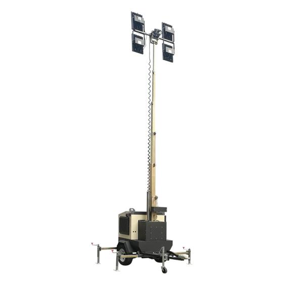High Quality Mobile Factory Use Portable Mini Trailer Type Wacker Light Tower