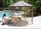 Black Color Large Dog Cage Outdoor Dog Kennel With Cover Easy Assemble