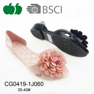 Wholesale shoe: 2017 Fancy Ladies Flower Jelly Shoes Sandals