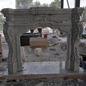 Wholesale home decorative: Natural Stone Hand Carved Marble Fireplace for Home Decoration