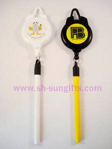 Wholesale Badge Holder & Accessories: Ski Pass Holder with Pencil, Retractable Badge Reel with Pen