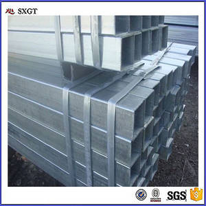 Wholesale steel pipe: 50x50 Pre-galvanized Square Tube / Galvanized Square Steel Pipe