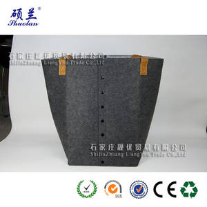 Wholesale fashion rivet: Wholesale high quality felt leisure tote bag