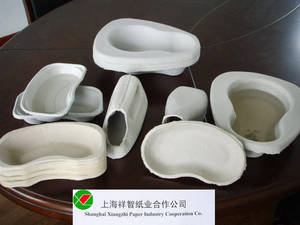 Wholesale pulp molding machinery: disposable receptacles  &medical trays in hospital