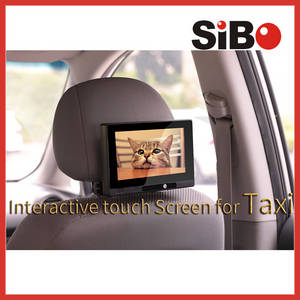 Wholesale headrest: Taxi Headrest Touch Advertising Screen with Content Management System