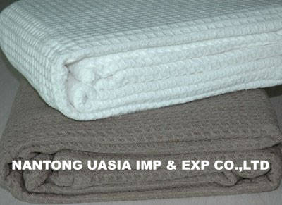 Sell 100% cotton waffle thermal blanket