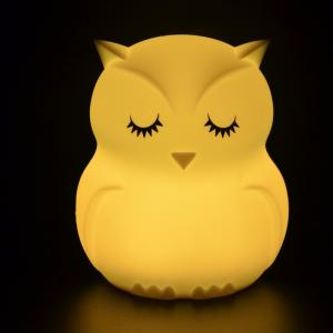 Wholesale Night Lights: Kids Night Light Silicone Material Color Light Changeable USD Charge Owl Night Lamp for Babies