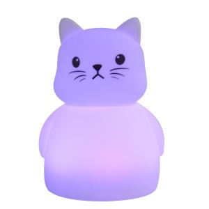 Wholesale Night Lights: Multicolor Silicone Cat LED Night Light Touch Sensor Soft LED Lamp for Kids Baby Children Gift