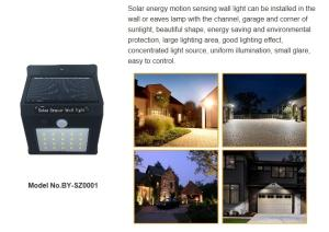 Wholesale led lights solar lights: LED Outdoor Solar Wall Light