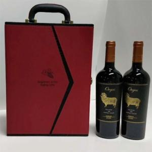 Wholesale wine box: High-grade Wine Box Covered by Luxury Imitation Leather with Classy Stitching