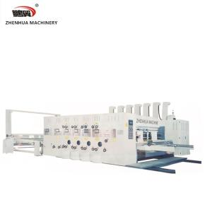 Wholesale leads: SYKM 4215-2400 Lead Edge Feeder 4 Color Printer Slotter and Stacker Machine