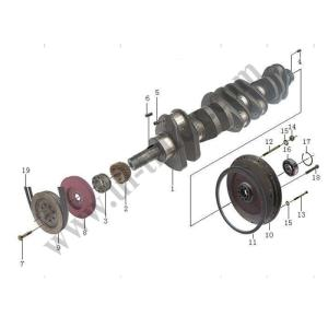 Wholesale weichai: Weichai WD615 Engine Parts 161560020029 Forged Steel Crankshaft